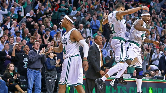 Boston Celtics celebrate