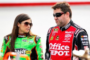 Danica Patrick and Tony Stewart