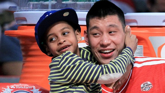 Kiyan Anthony and Jeremy Lin