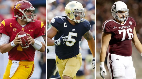 Matt Barkley, Manti Te'o y Luke Joeckel