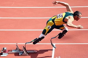 Oscar Pistorius became more myth than man as he competed in the London Oympics.
