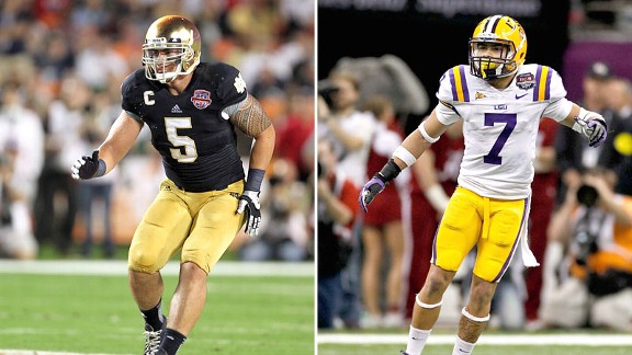 Manti Te'o and Tyrann Mathieu