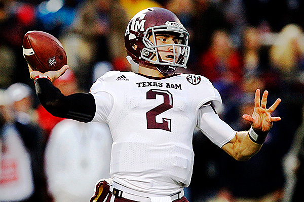 AP Photo/Rogelio V. Solis Texas A&M's Johnny Manziel says his family