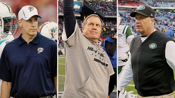 Joe Philbin, Bill Belichick, and Rex Ryan