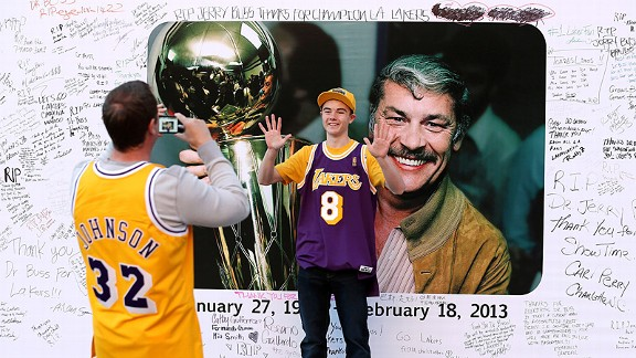 A Staples Center tribute for late Los Angeles Lakers owner Jerry Buss