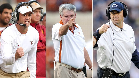 Lane Kiffin, Mack Brown, Bill O'Brien