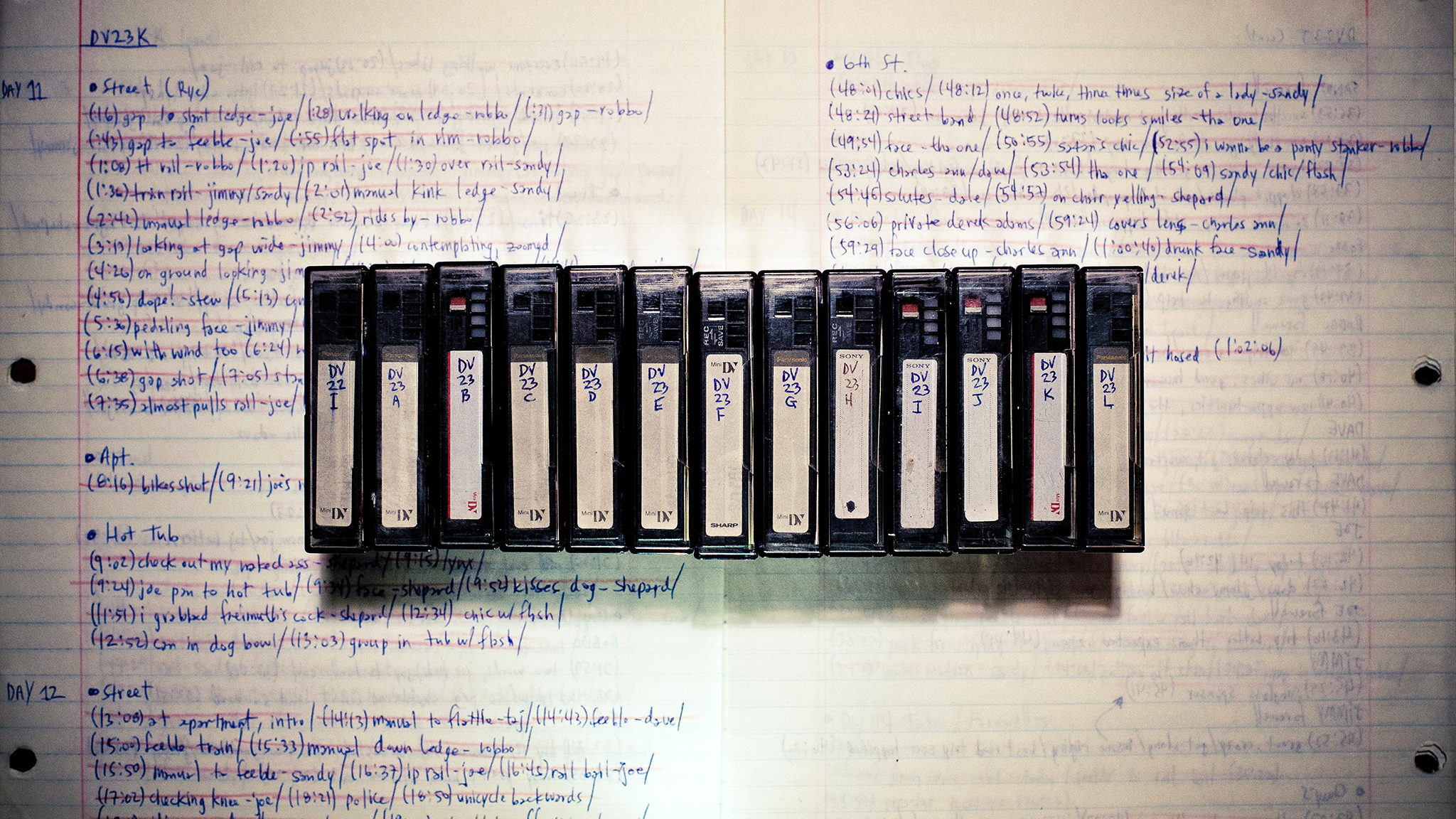 Original tapes and production notes from Props Road Fools '98.