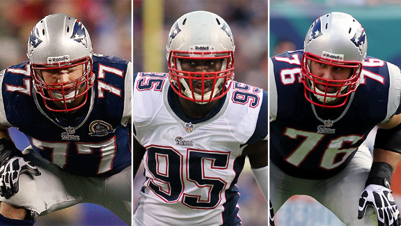 Nate Solder, Chandler Jones, Sebastian Vollmer