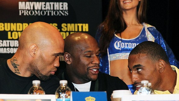 Ishe Smith, Floyd Mayweather, and J'Leon Love