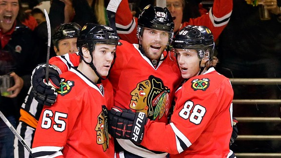 Viktor Stalberg, Andrew Shaw, Patrick Kane
