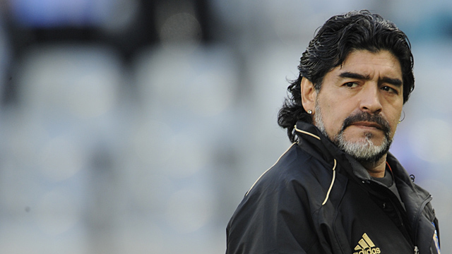 Argentina's coach Diego Maradona