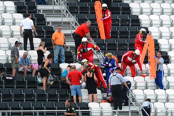 Daytona crash, injured fans