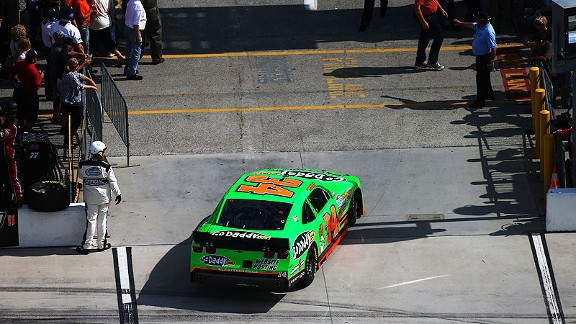 Danica Patrick's car lost speed then broke down. The crew later determined ignition problems as the culprit.