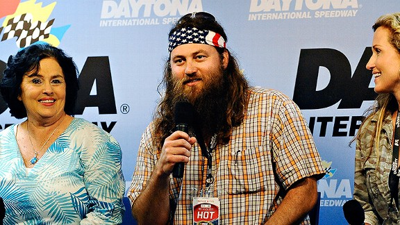 /Getty Images Kay Robertson, Willie Robertson and Korie Robertson