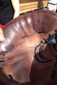 Sox manager John Farrell's mitt