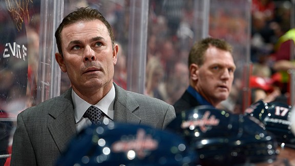 Head coach Adam Oates of the Washington Capitals