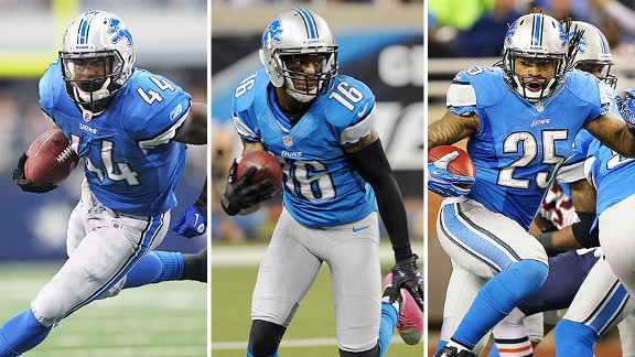 Jahvid Best, Titus Young, and Mikel Leshoure