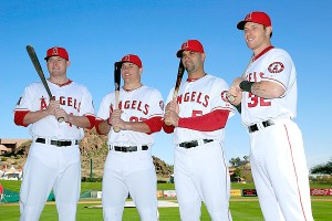 Mark Trumbo, Mike Trout, Albert Pujols and Josh Hamilton