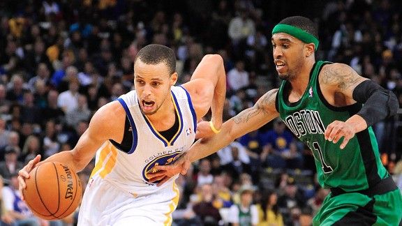 Stephen Curry and Courtney Lee