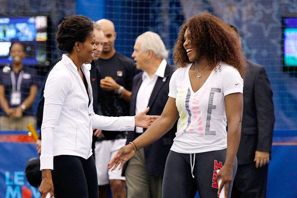 Michelle Obama and Serena Williams