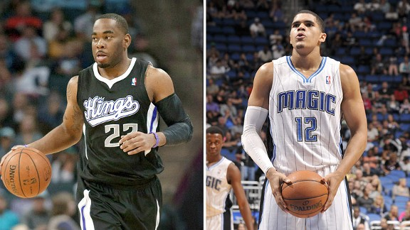 Marcus Thornton and Tobias Harris