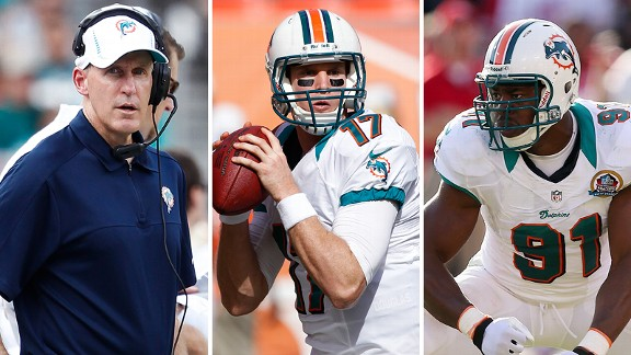 Joh Philbin, Ryan Tannehill and Cameron Wake
