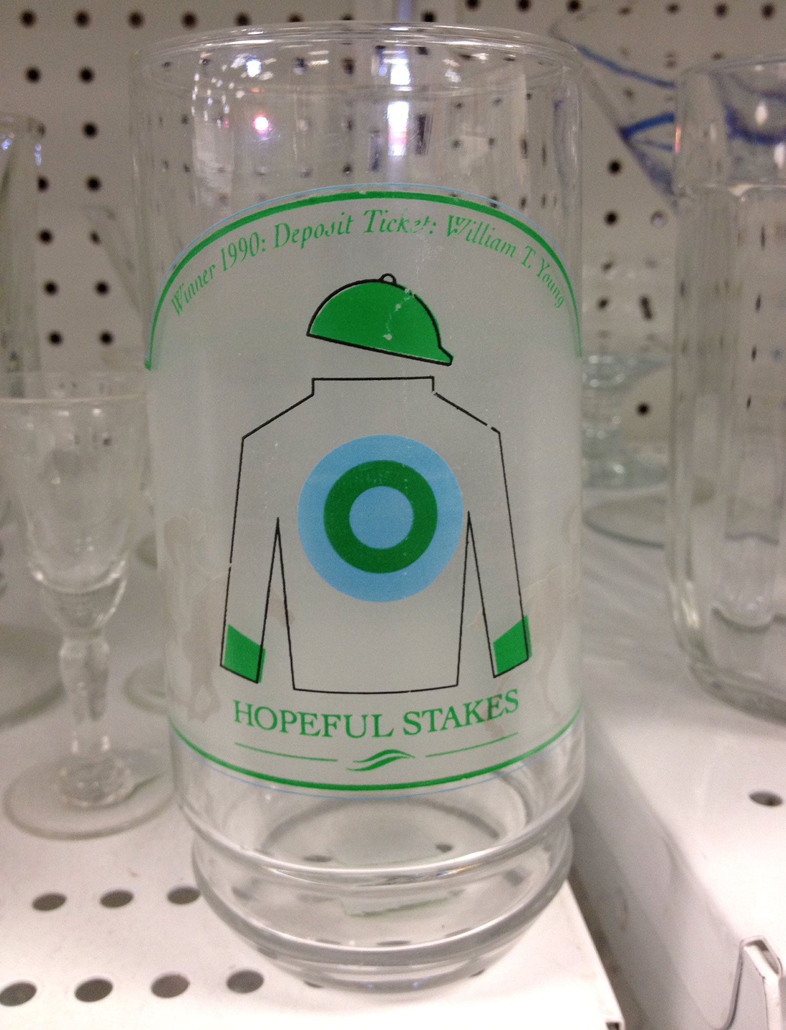 Hopeful Stakes glass: $1