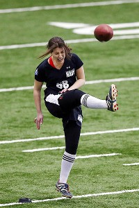 Female kicker makes just 2 kicks during tryout