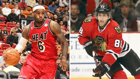 LeBron James and Patrick Kane