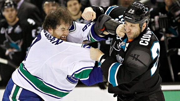 Ryane Clowe and Zack Kassian