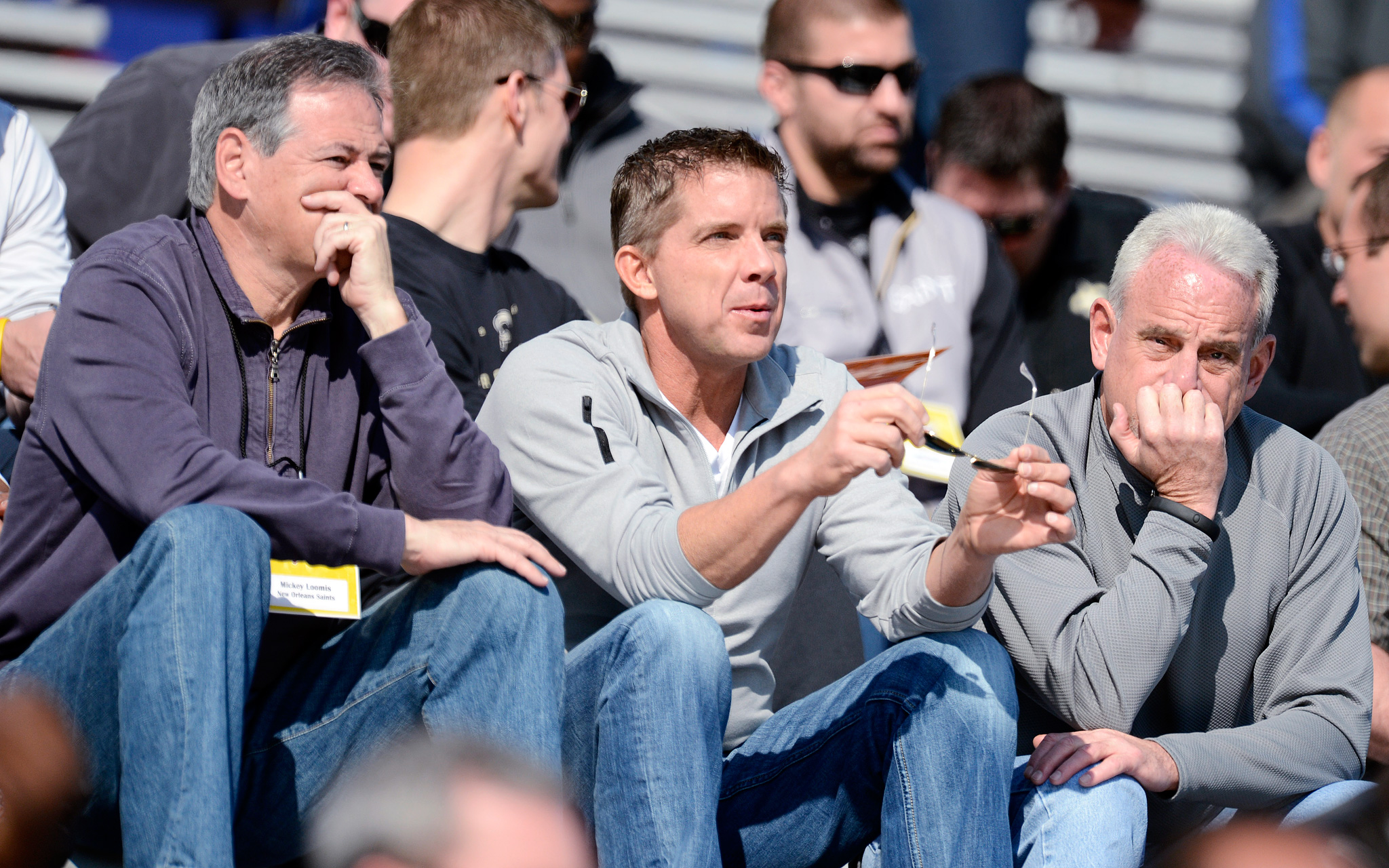 Mickey Loomis, Sean Payton and Joe Vitt