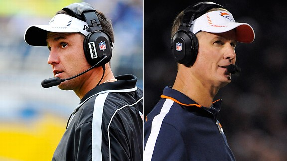 Dennis Allen and Mike McCoy