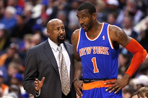 Mike Woodson and Amar'e Stoudemire
