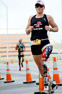 Melissa Stockwell has passed her triathlon bug on to others, disabled and able-bodied athletes alike.