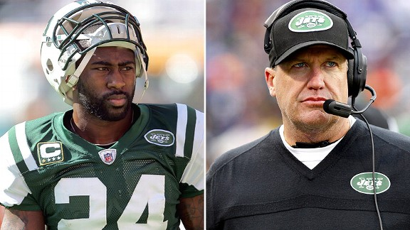 Darrelle Revis and Rex Ryan