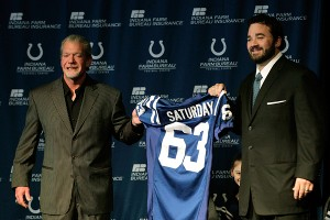 Jeff Saturday and Jim Irsay