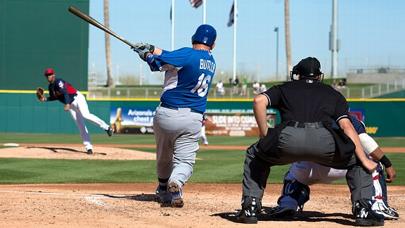 Billy Butler of the Kansas City Royals in spring training