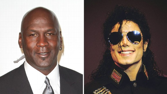 Michael Jordan and Michael Jackson for the music video for 'Jam'