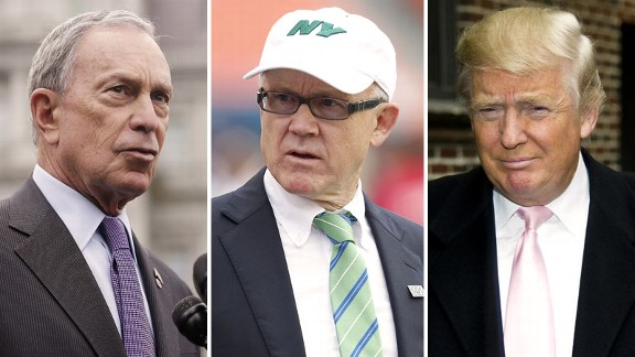 Michael Bloomberg, Woody Johnson, Donald Trump