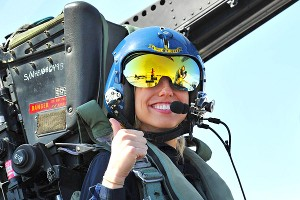 Courtney Force briefly passed out while flying with the Blue Angels.