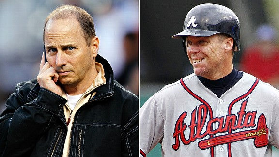 Brian Cashman and Chipper Jones