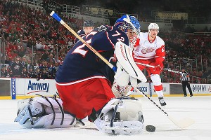 Sergei Bobrovsky of the Columbus Blue Jackets