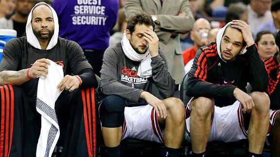 Chicago Bulls bench