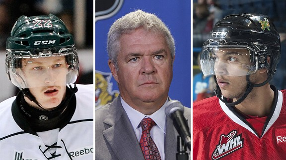Nathan MacKinnon, Dale Tallon and Seth Jones