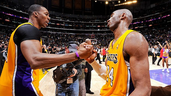 Dwight Howard and Kobe Bryant