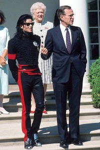 Michael Jackson and George Bush