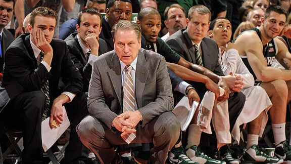 Head Coach Tom Izzo of the Michigan State Spartans