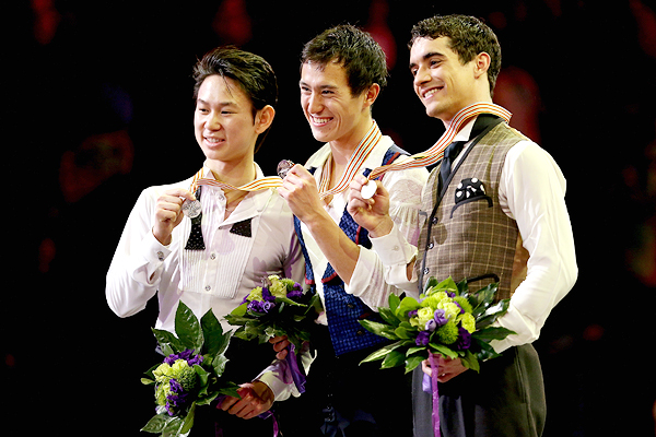 Denis Ten, Patrick Chan and Javier Fernandez