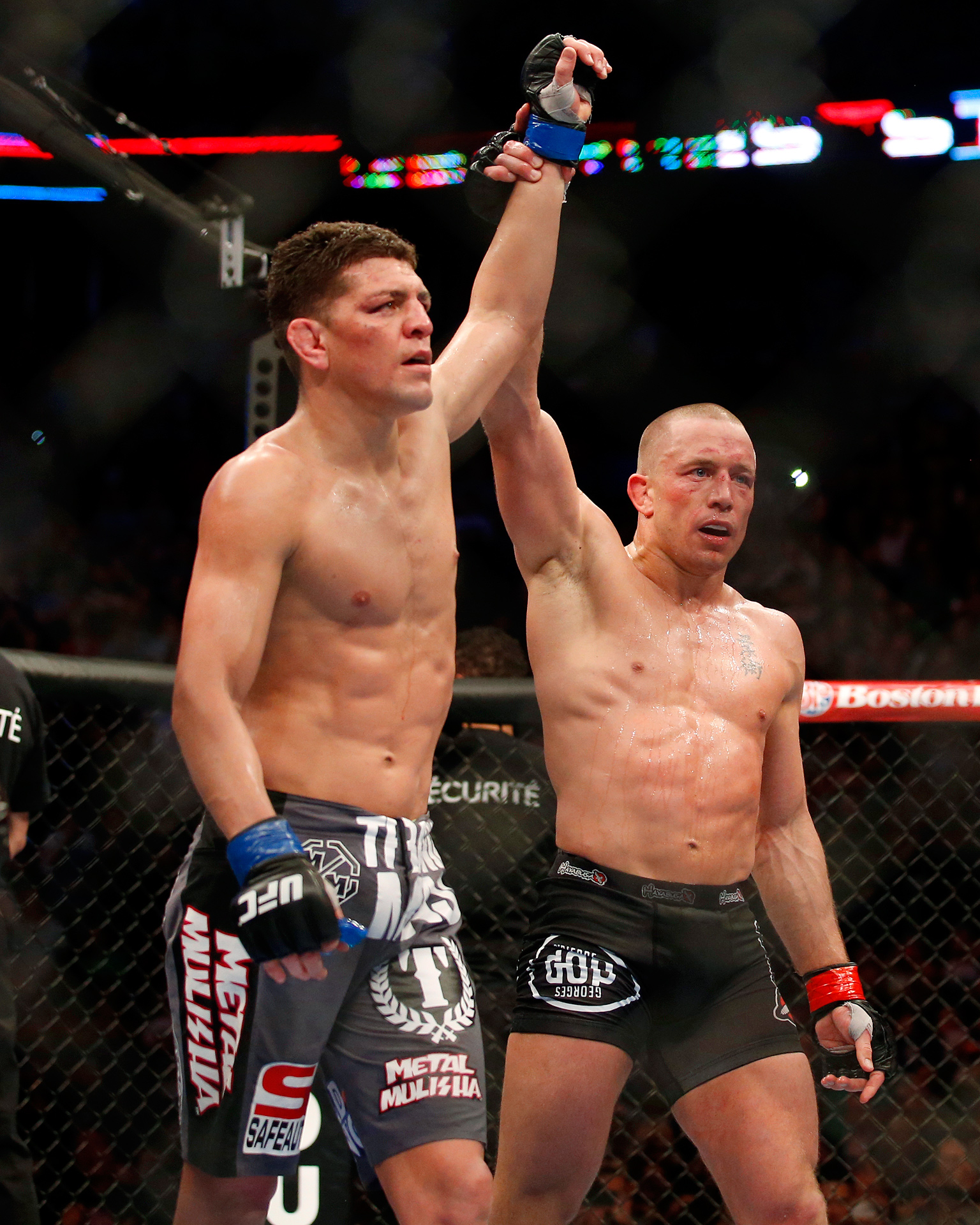 Mma: Nick Diaz And Georges St-Pierre