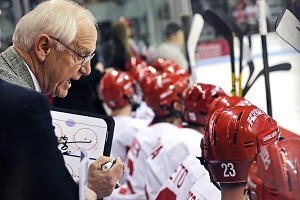 Legendary BU coach Jack Parker coached his final home game Saturday, a 5-3 win over Merrimack.